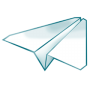 96x96px size png icon of paper plane
