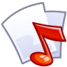 96x96px size png icon of Audio file