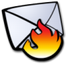 96x96px size png icon of email spam fire