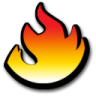 96x96px size png icon of flame