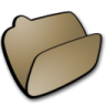 96x96px size png icon of folder brown open