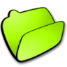 96x96px size png icon of folder lime open