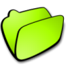 96x96px size png icon of folder lime