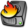 96x96px size png icon of harddrive burning