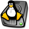 96x96px size png icon of harddrive linux