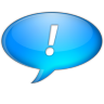 96x96px size png icon of Chat bleu