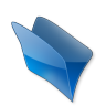 96x96px size png icon of Dossier bleu