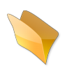 96x96px size png icon of Dossier jaune