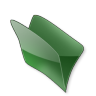 96x96px size png icon of Dossier vert