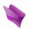 96x96px size png icon of Dossier violet