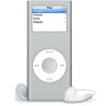 96x96px size png icon of iPod nano argente