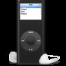 96x96px size png icon of iPod nano noir