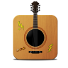 96x96px size png icon of guitar