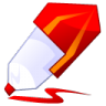 96x96px size png icon of Pen red