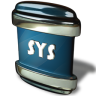 96x96px size png icon of File SYS