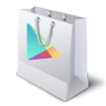 96x96px size png icon of google play