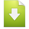 96x96px size png icon of Document download