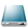96x96px size png icon of Drives Colours Blue