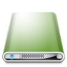 96x96px size png icon of Drives Colours Dark Green