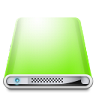 96x96px size png icon of Drives Colours Light Green