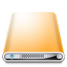 96x96px size png icon of Drives Colours Orange