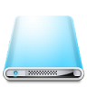 96x96px size png icon of Drives Colours Sky Blue