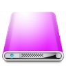 96x96px size png icon of Drives Colours Violet