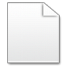 96x96px size png icon of Mimetypes Blank Document
