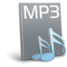 96x96px size png icon of File mp 3
