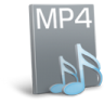 96x96px size png icon of File mp 4