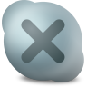 96x96px size png icon of Actions skype contact offline