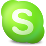 96x96px size png icon of Actions skype contact online
