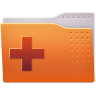 96x96px size png icon of Places folder add