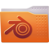 96x96px size png icon of Places folder blender