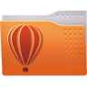 96x96px size png icon of Places folder coreldraw