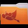 96x96px size png icon of Places folder gimp