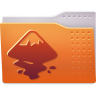 96x96px size png icon of Places folder inkscape