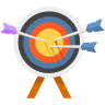 96x96px size png icon of Arrow Bulls Eye