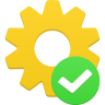 96x96px size png icon of process accept