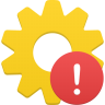 96x96px size png icon of process warning