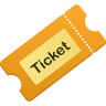 96x96px size png icon of ticket