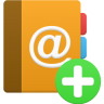 96x96px size png icon of addressbook add