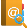 96x96px size png icon of addressbook search