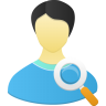 96x96px size png icon of Male user search
