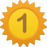 96x96px size png icon of Number 1