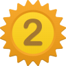 96x96px size png icon of Number 2