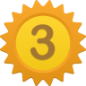96x96px size png icon of Number 3
