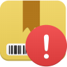 96x96px size png icon of Package warning