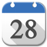 96x96px size png icon of Apps google calendar