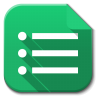 96x96px size png icon of Apps google drive forms